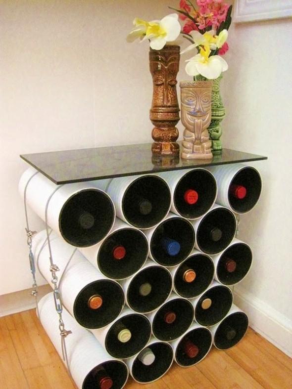 Como usar canos de PVC na decoração de ambientes 015