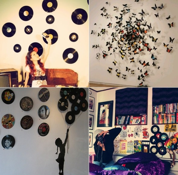 22 dicas de decoraç u00e3o com disco de vinil -> Decorar Com Discos De Vinil