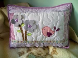 Decoração em patchwork para almofadas e travesseiros 001