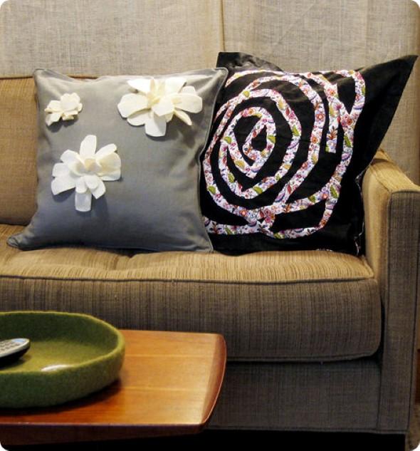 Decoração em patchwork para almofadas e travesseiros 002