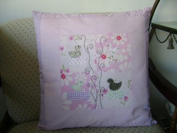Decoração em patchwork para almofadas e travesseiros 003