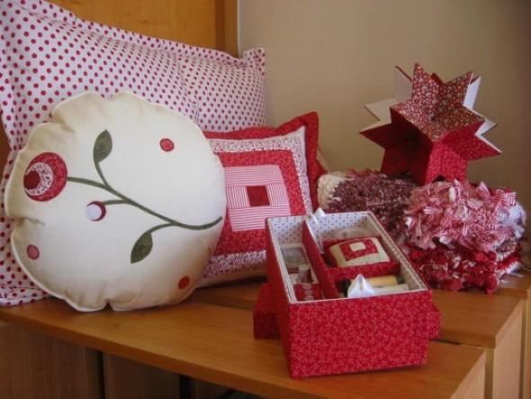 Decoração em patchwork para almofadas e travesseiros 004