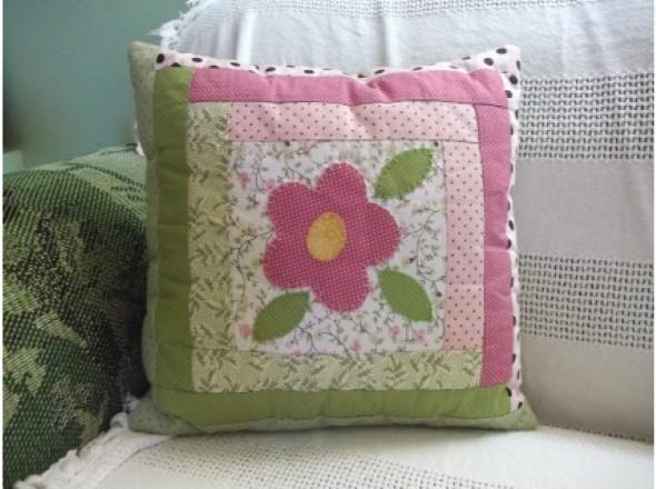 Decoração em patchwork para almofadas e travesseiros 005