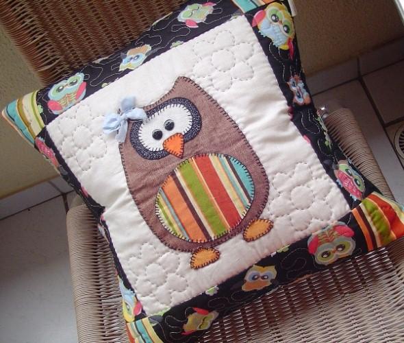 Decoração em patchwork para almofadas e travesseiros 007