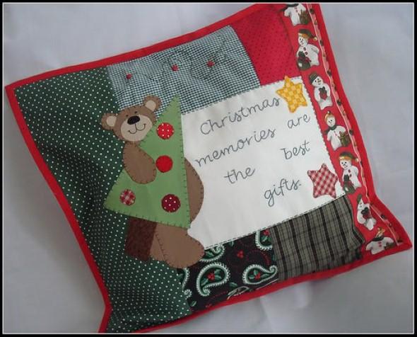 Decoração em patchwork para almofadas e travesseiros 008