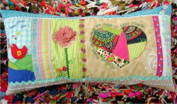 Decoração em patchwork para almofadas e travesseiros 009