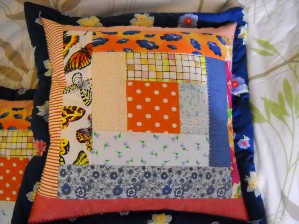 Decoração em patchwork para almofadas e travesseiros 010