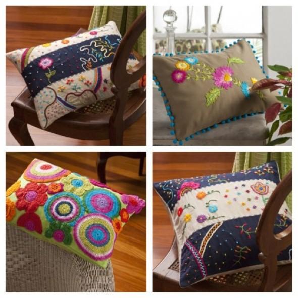Decoração em patchwork para almofadas e travesseiros 011