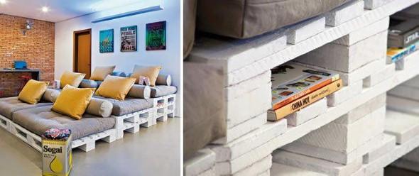 Sofás com paletes e madeira reciclável 006