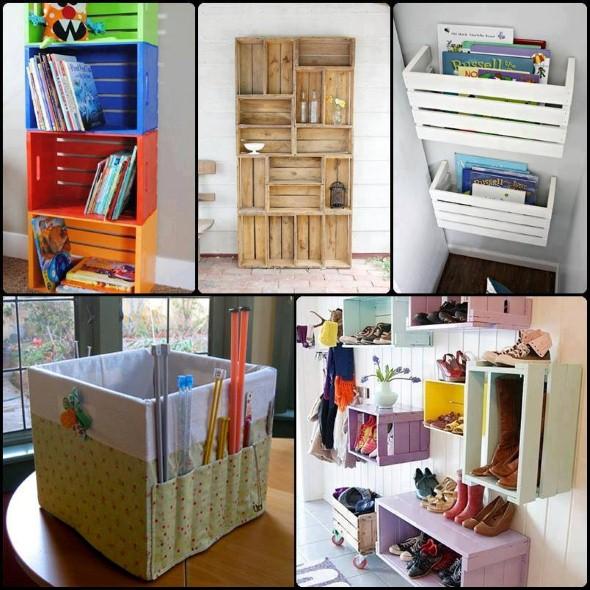 20 dicas de artesanato em caixote de feira para decoração -> Decoracao De Banheiro Com Caixote De Feira
