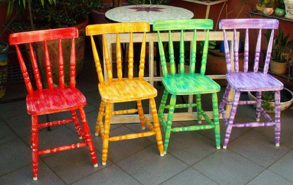 Como reformar cadeira velha para decoração 008