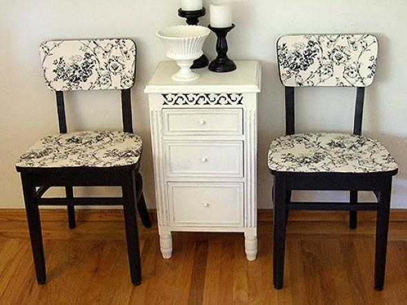 o reformar cadeira velha para decoração