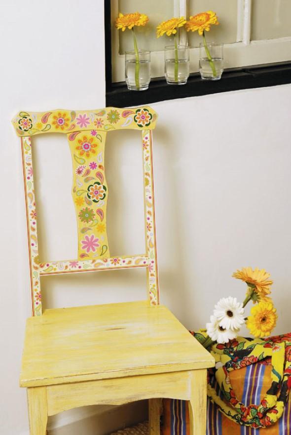 Como reformar cadeira velha para decoração 014