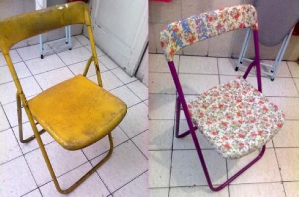 Como reformar cadeira velha para decoração 016