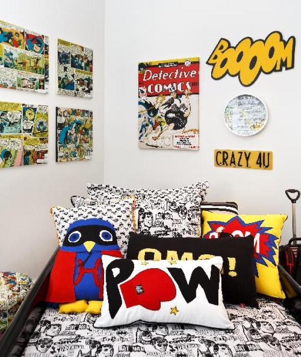25 dicas de decoração com histórias em quadrinhos