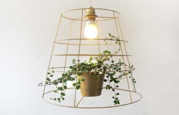 Luminária pendente de material reciclado 012