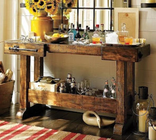 decoracao cozinha tradicional:18 dicas de como montar um barzinho diferente em casa com material