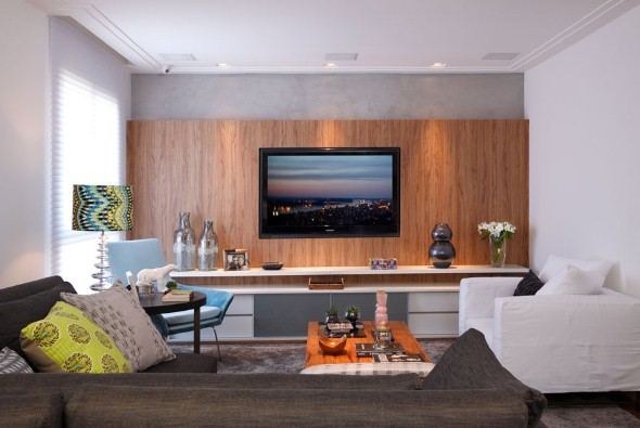 um painel para tv pode ser decorativo pictures to pin on pinterest