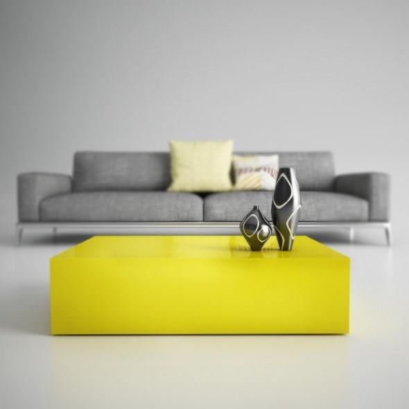 Usar mesas amarelas na decoração 014