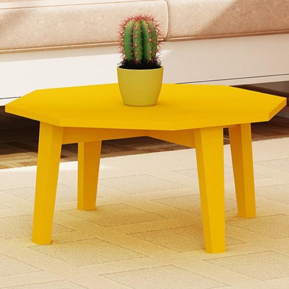 Usar mesas amarelas na decoração 016