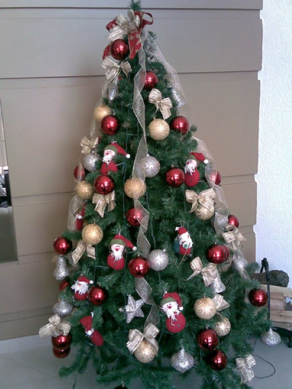 ideias para decorar arvore de natal branca : ideias para decorar arvore de natal branca:Separamos também estas imagens de árvores de Natal decoradas, e que