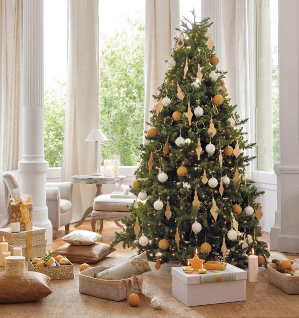 decorar arvore natal simples:20 idéias de como decorar a árvore de Natal