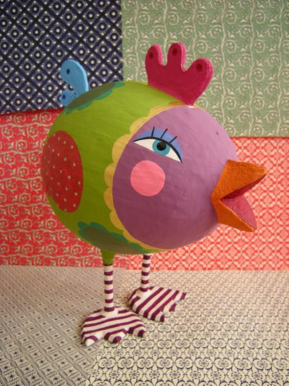 Artesanato Com Papel Mache Passo A Passo ~ 15 Objetos de decoraç u00e3o feitos de papel mach u00ea Veja o passo a passo