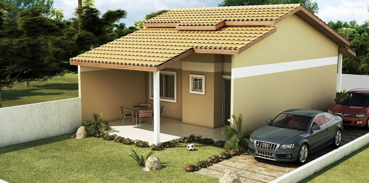 19 fachadas de casas simples e modernas for Casas modernas simples