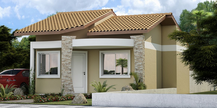 19 fachadas de casas simples e modernas for Fotos de fachadas de casas de dos pisos pequenas