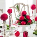 Decorar a mesa da ceia de Natal 012