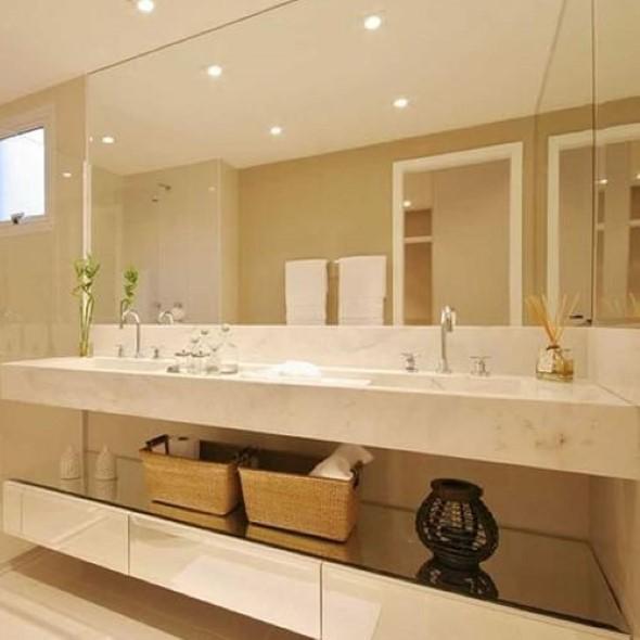 Bancada de banheiro decorada -> Banheiro Pequeno Bancada