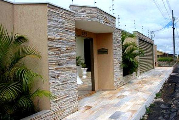 19 fachadas de casas simples e modernas for Frentes de casas modernas con piedras