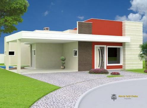 23 modelos de fachadas coloridas de casa for Modelo de fachada de casa