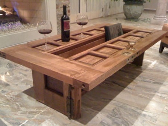 20 modelos de mesas com madeiras usadas Table making ideas