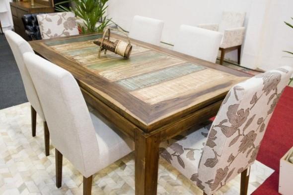 20 modelos de mesas com madeiras usadas for Modelos de mesas