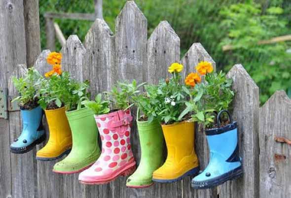 Enfeite para jardim reciclado 001