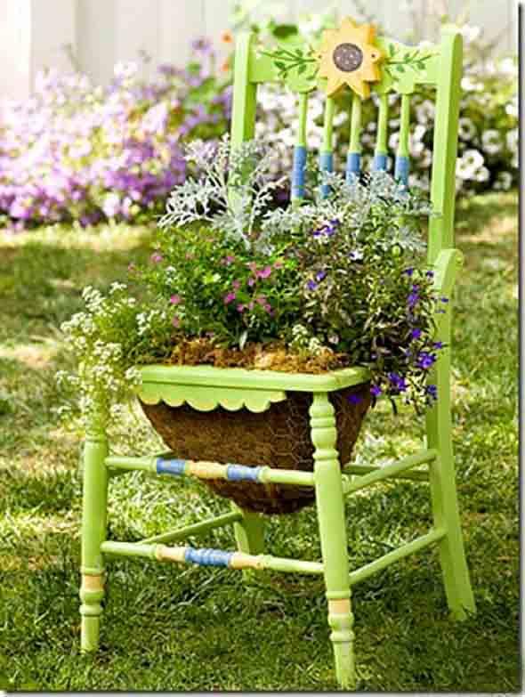 enfeites para jardim reciclados: – Materiais Enfeite Para Jardins Uma Vareta Para Sustentar Os Vasos