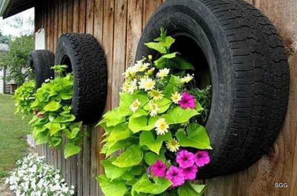 Enfeite para jardim reciclado 012
