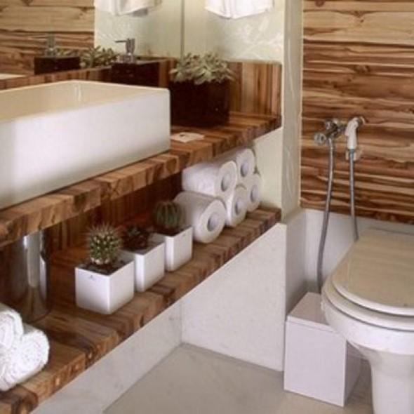 14 modelos de lavabos pequenos e modernos -> Pia De Banheiro Rustica