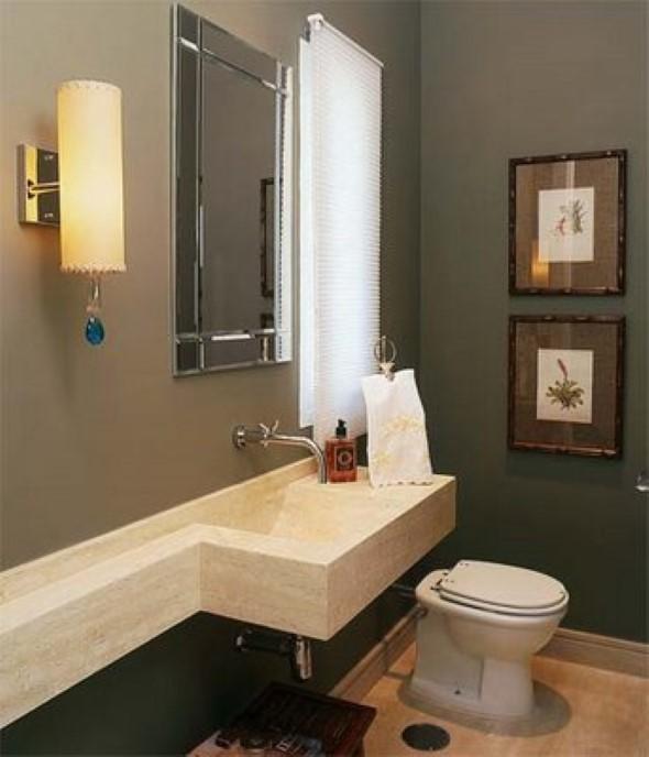 14 modelos de lavabos pequenos e modernos -> Decoracao Banheiro Lavabo