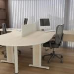 Mesa de trabalho dupla para escritório 005