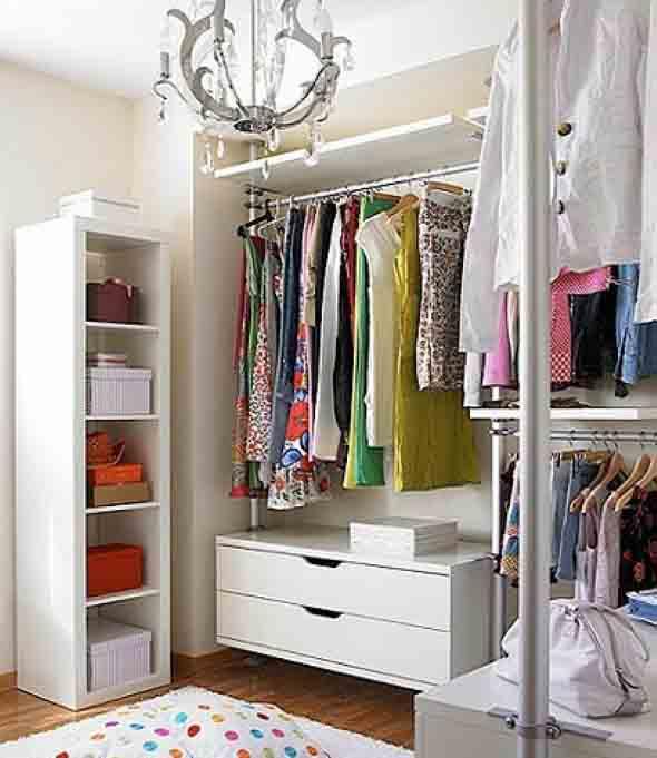 6 dicas de como montar closet pequeno e barato para quarto for Armarios pequenos baratos