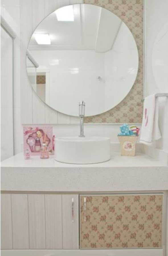 4 dicas de espelhos pequenos para banheiro e lavabo com 20 modelos diferenciados -> Banheiro Pequeno Espelho