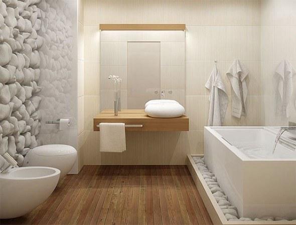 15 pisos que imitam madeira no banheiro e 4 dicas de uso for Photos salle de bain zen et nature