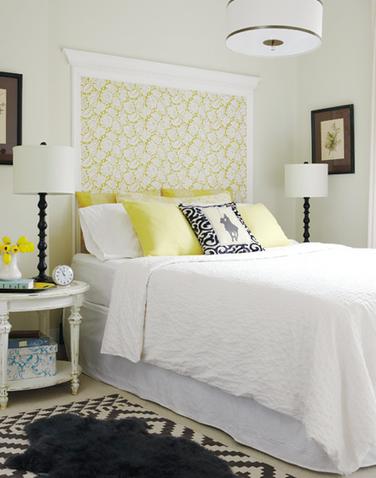 18 dicas de como usar papel de parede na cabeceira da cama - Papel pintado cabecero cama ...