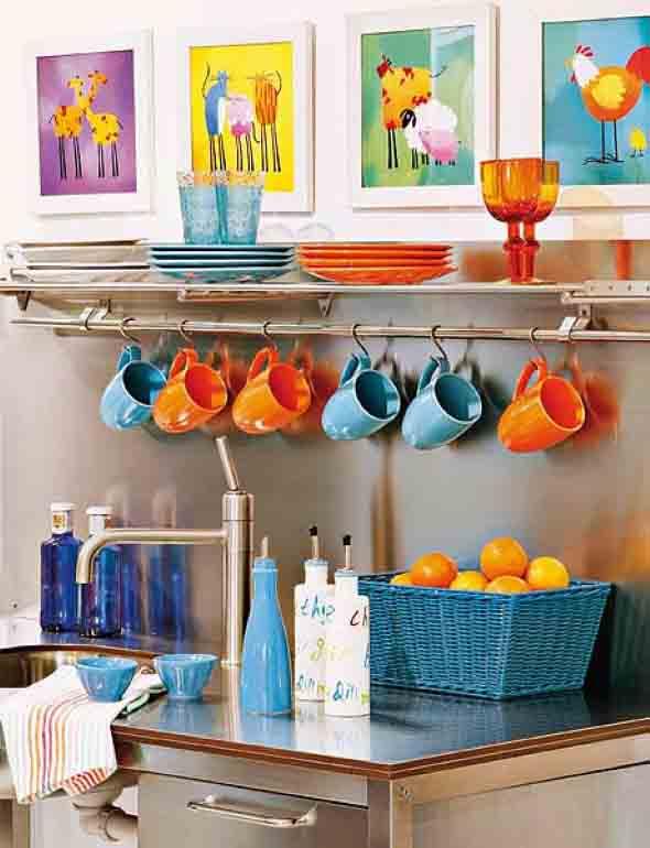 Decorar a cozinha com pouco dinheiro e muita criatividade for Vajilla moderna barata