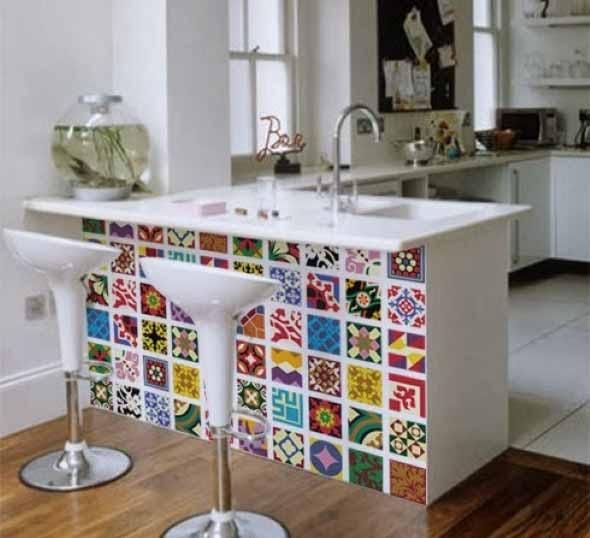 Decorar e renovar a cozinha com papel contact # Azulejo Cozinha Com Papel Contact