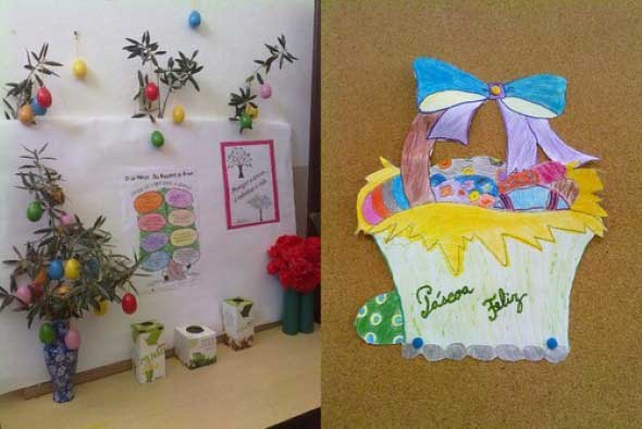 19 idéias para decorar sala de aula para páscoa