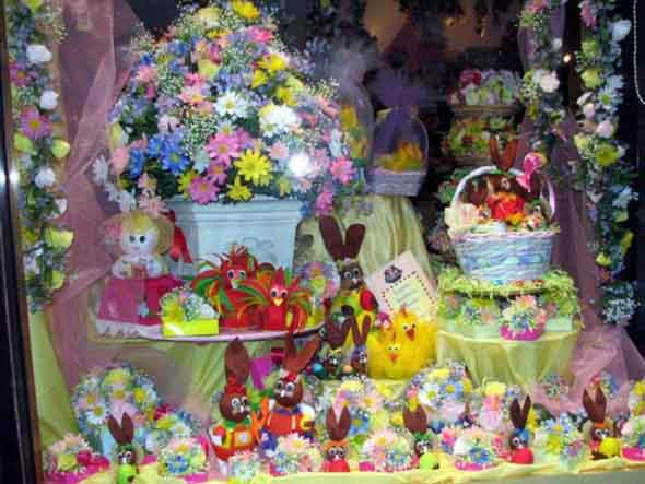 18 idéias para decorar vitrines de lojas na páscoa # Decoração De Pascoa Para Vitrine De Loja