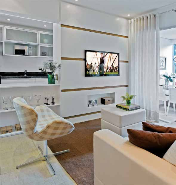 20 modelos de mesa de centro para salas pequenas for Decoracion piso 35 m